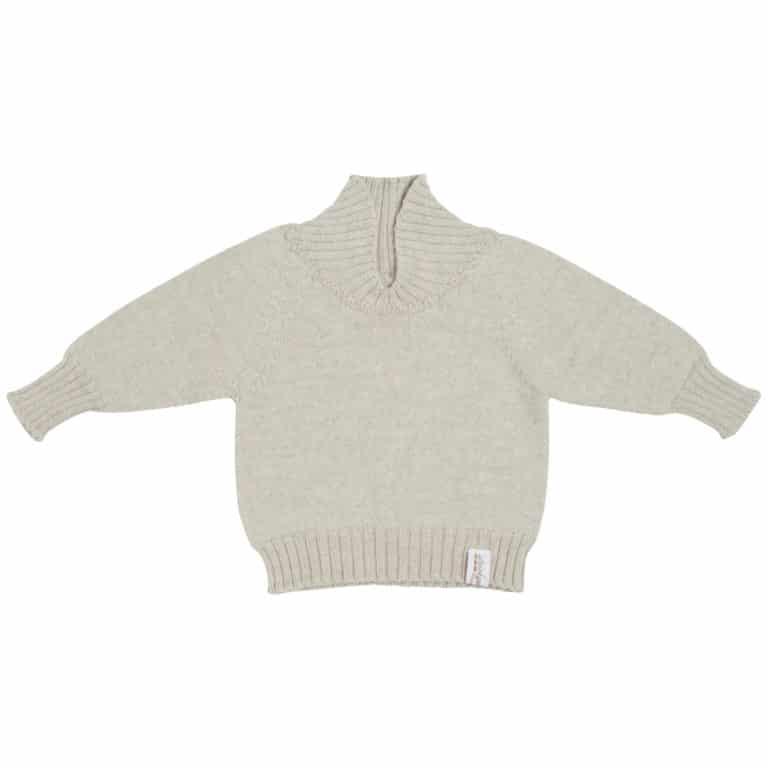 Strickgut Pullover beige melange