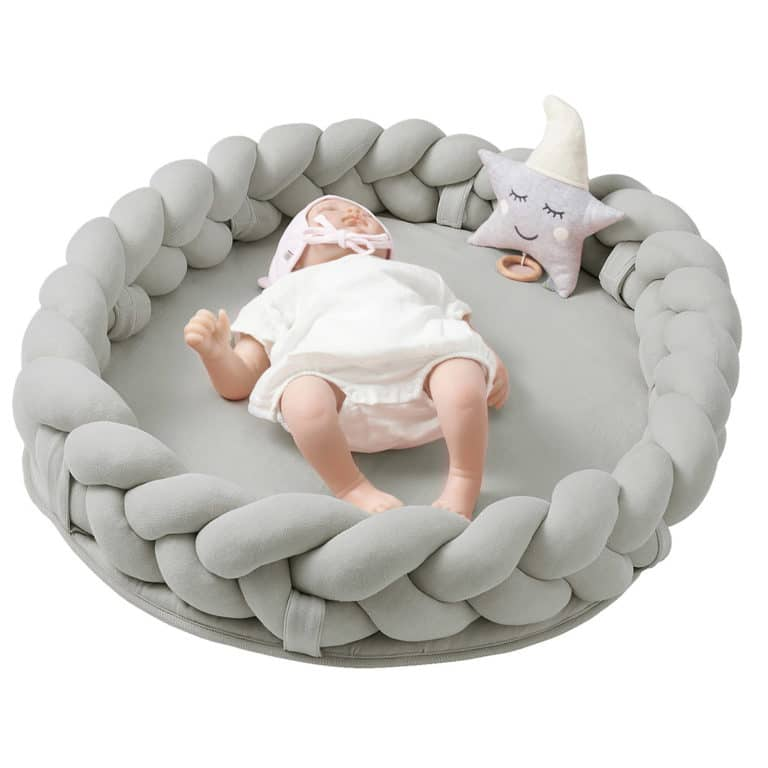 Nordic coast company Baby Nest geflochten grau 2