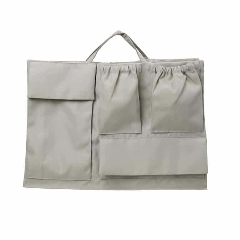 Lilibell Wickeltasche Bag-in-bag grau