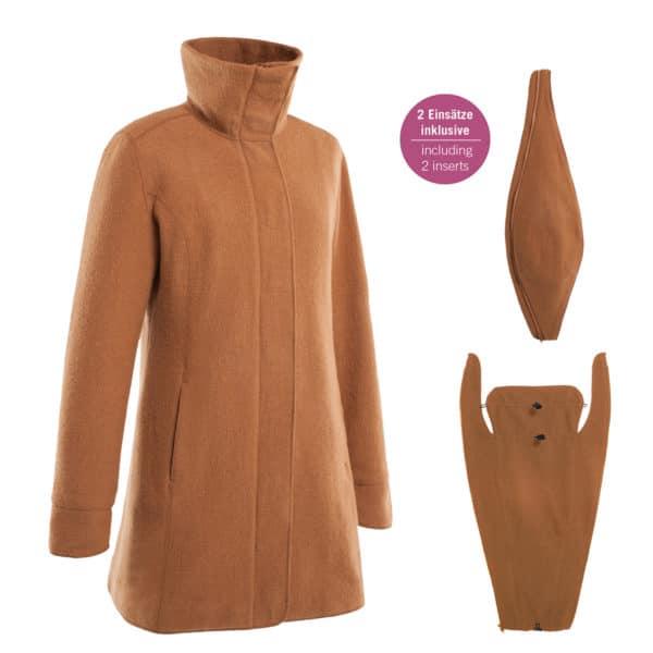 Mamalila Eco-Wool-Tragemantel camel 3