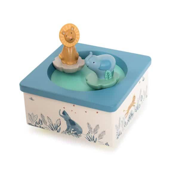 Moulin Roty Spieluhr Löwe und Elefant