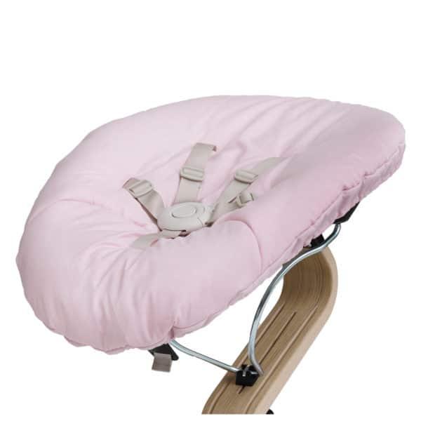 Nomi Baby Wippe - Base weiß/ Matratze pink