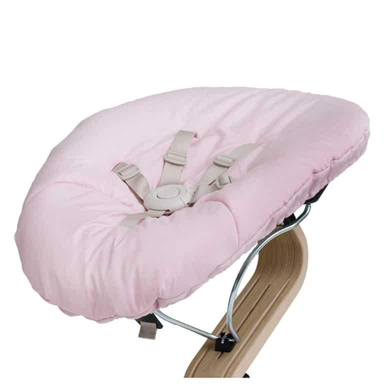Nomi Baby Wippe - Base schwarz/ Matratze diverse Farben pink