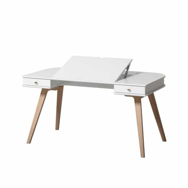 Oliver Furniture Wood Schreibtisch 66 cm & Armlehnstuhl 5