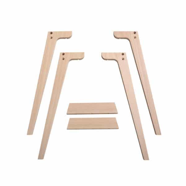 Oliver Furniture Wood - Extra Tischbeinset für Schreibtisch Tischhöhe 66 cm