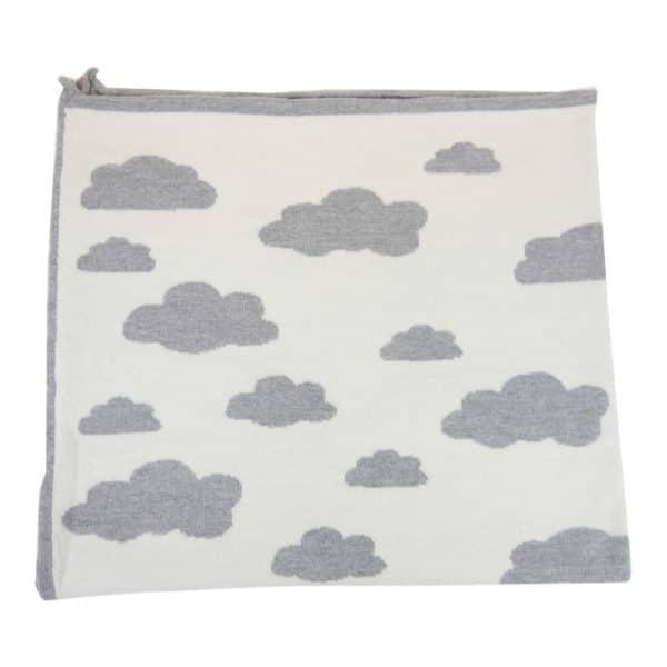 Baby Kochs Wolken-Babydecke grau/ecru 3