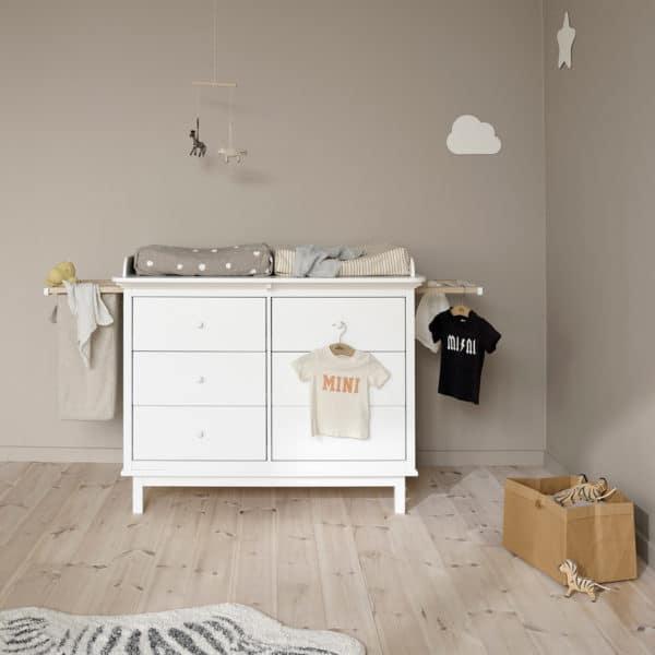 Oliver Furniture Seaside - 2 Auszüge und Wäschesack für Wickelkommode mit 6 Schubladen