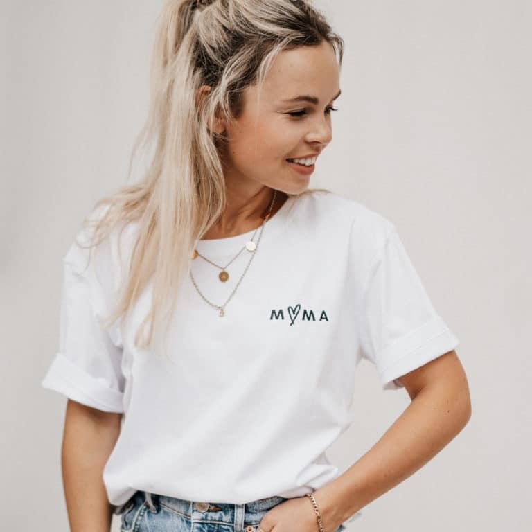 """Famvibes T-Shirt """"Mama"""" - weiß 2"""
