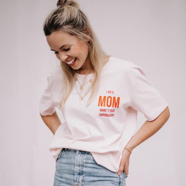 "Famvibes T-Shirt ""Mom"" - rosa 2"