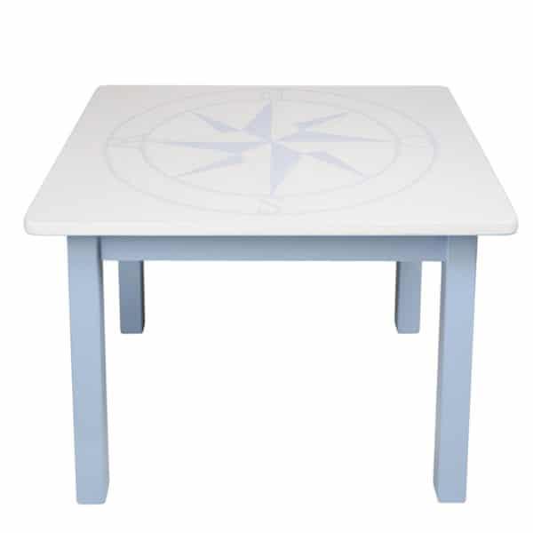 Kindertisch blau-blaue-windrose