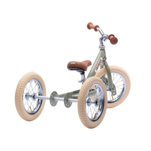 Trybike Dreirad / Laufrad 2in1 vintage-green 2