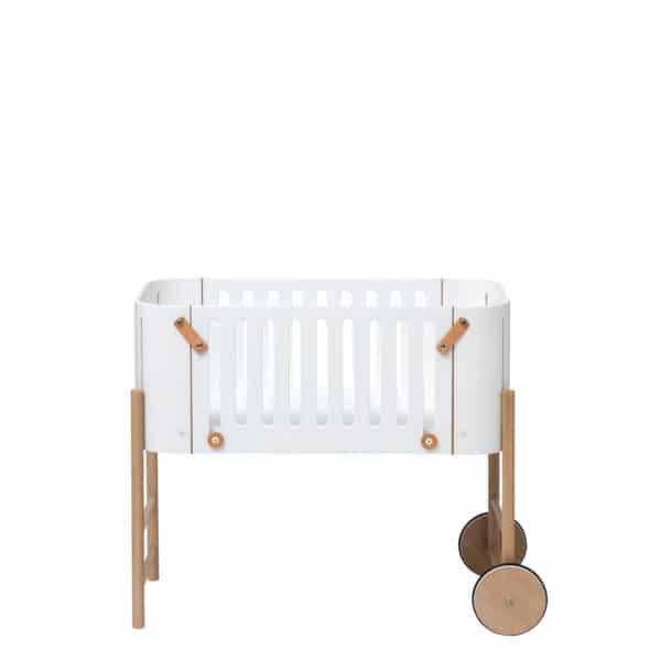 Oliver Furniture Wood Beistellbett inkl. Umbauset zur Bank, weiß/Eiche 6