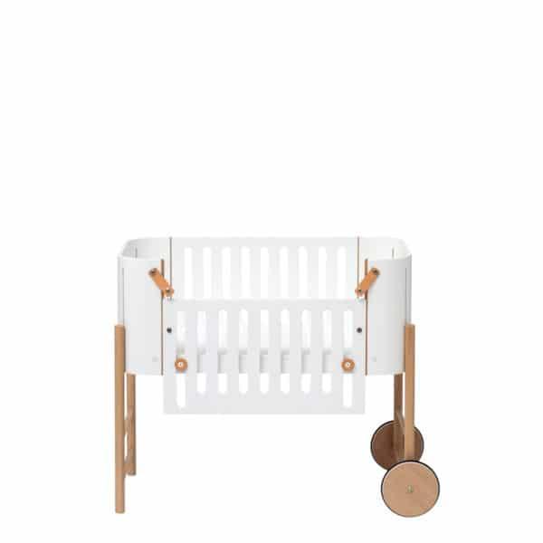 Oliver Furniture Wood Beistellbett inkl. Umbauset zur Bank, weiß/Eiche 3