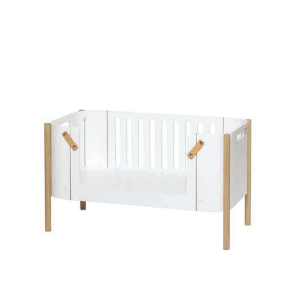 Oliver Furniture Wood Beistellbett inkl. Umbauset zur Bank, weiß/Eiche 2
