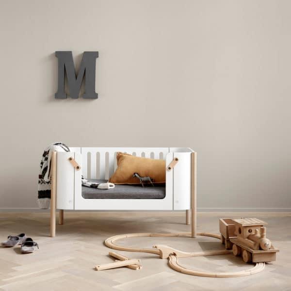 Oliver Furniture Wood Bank, weiß/Eiche 2