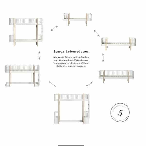 Oliver Furniture Wood Halbhohes Hochbett 6