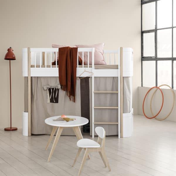 Oliver Furniture Wood Halbhohes Hochbett 2