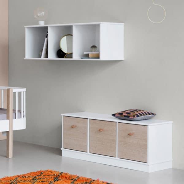 Oliver Furniture Wood Sitzkissen für Regal 3 x 1, natur 2