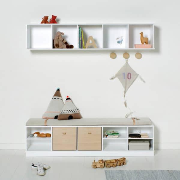 Oliver Furniture Wood Sitzkissen für Regal 5 x 1, natur 2