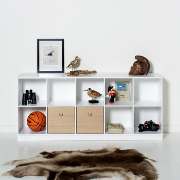 Oliver Furniture Wood Kisten weiß/eiche, 3 Stück 3