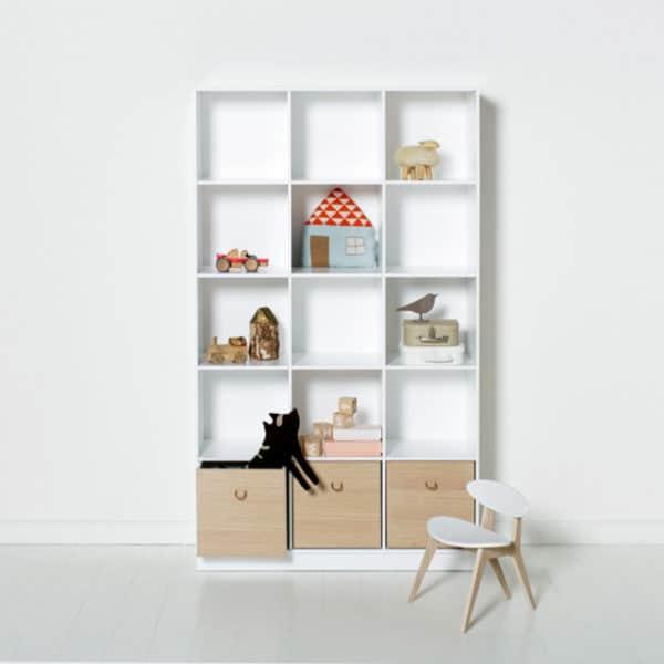 Oliver Furniture Wood Regal 3×5 mit Sockel 2