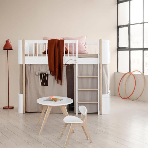 Oliver Furniture Wood Vorhang für Mini+ halbhohes Hochbett inkl. Befestigung, diverse Farben