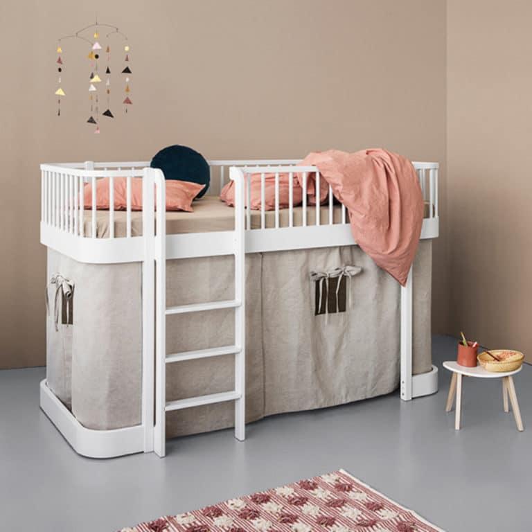 Oliver Furniture Wood Vorhang für halbhohes Hochbett/Etagenbett (inkl. Befestigung), diverse Farben
