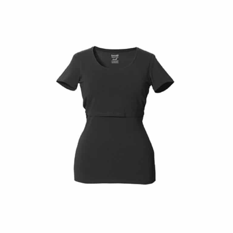 Boob Still-Shirt, Kurzarm, schwarz