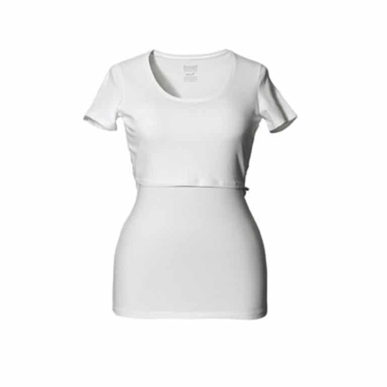 Boob Still-Shirt, Kurzarm, weiß
