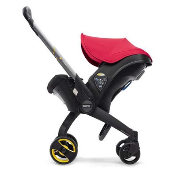 Doona+ Die Babyschale mit integriertem Travelsystem flame-red.