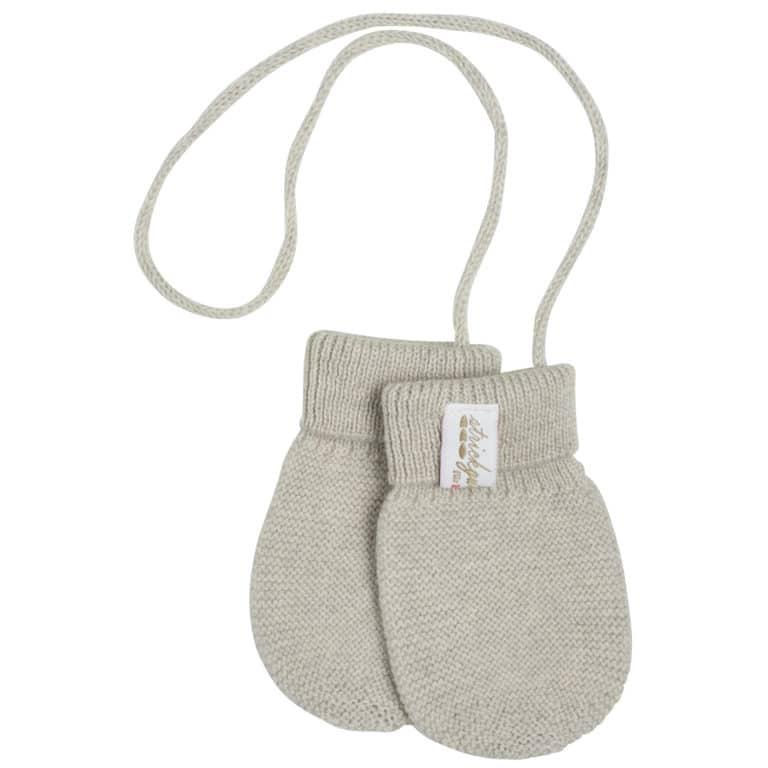 Baby Kochs Baby-Handschuhe aus Merinowolle beige-melange