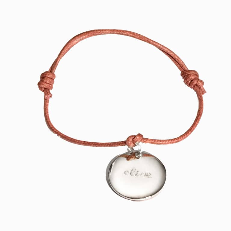 Pelina bijoux One charm Armband in silber/ individuelle Gravur