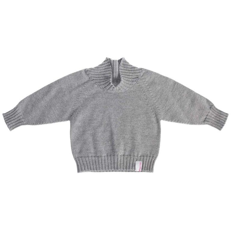 Strickgut Baby-Pullover grau