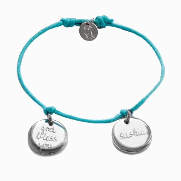 Pelina bijoux Two charm Armband in silber/ individuelle Gravur