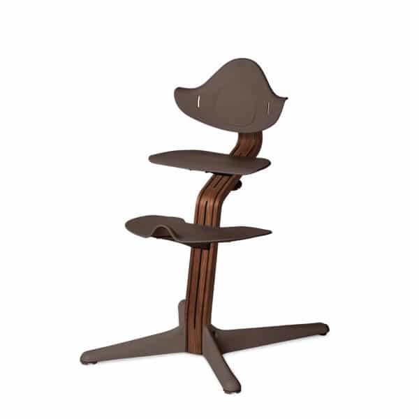 Nomi Highchair - Mittelsäule Premium - Walnuss/Walnusskern natur, coffee