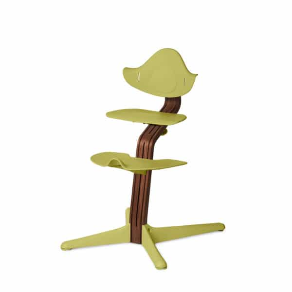 Nomi Highchair - Mittelsäule Premium - Walnuss/Walnusskern natur, lime