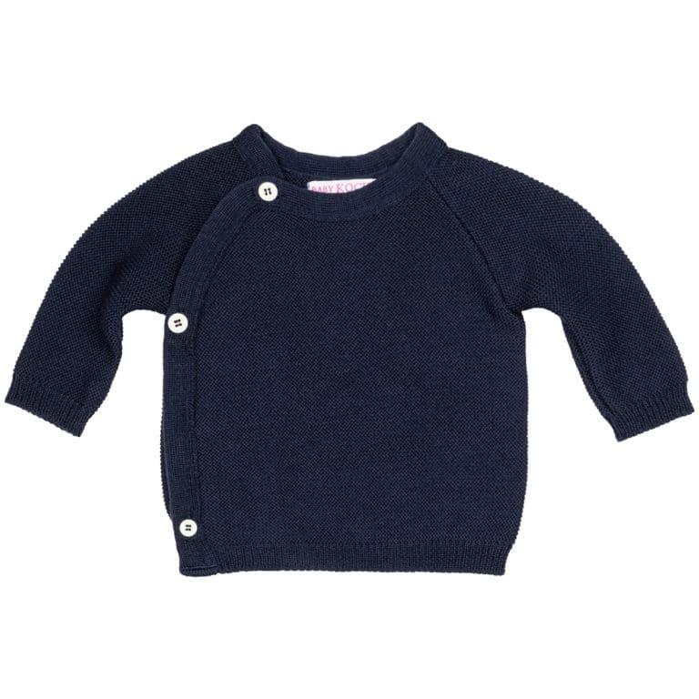 Baby Kochs Wickelpullover marine