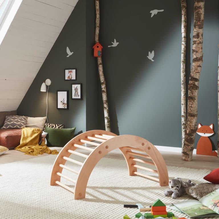 Ecolignum Kletterbogen Mika im Kinderzimmer
