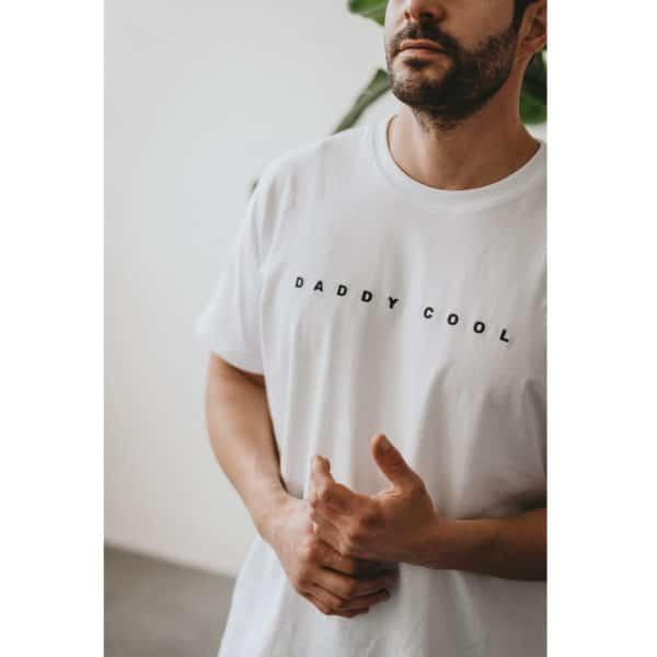 "Famvibes Herren T-Shirt ""Daddy cool"" weiß 1"