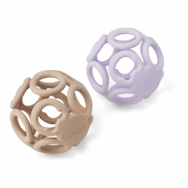 Liewood Teether Ball Jasmin (2er Set) Light lavender rose mix