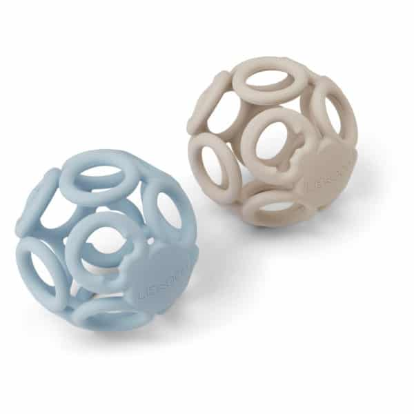 Liewood Teether Ball Jasmin (2er Set) Sandy sea blue mix