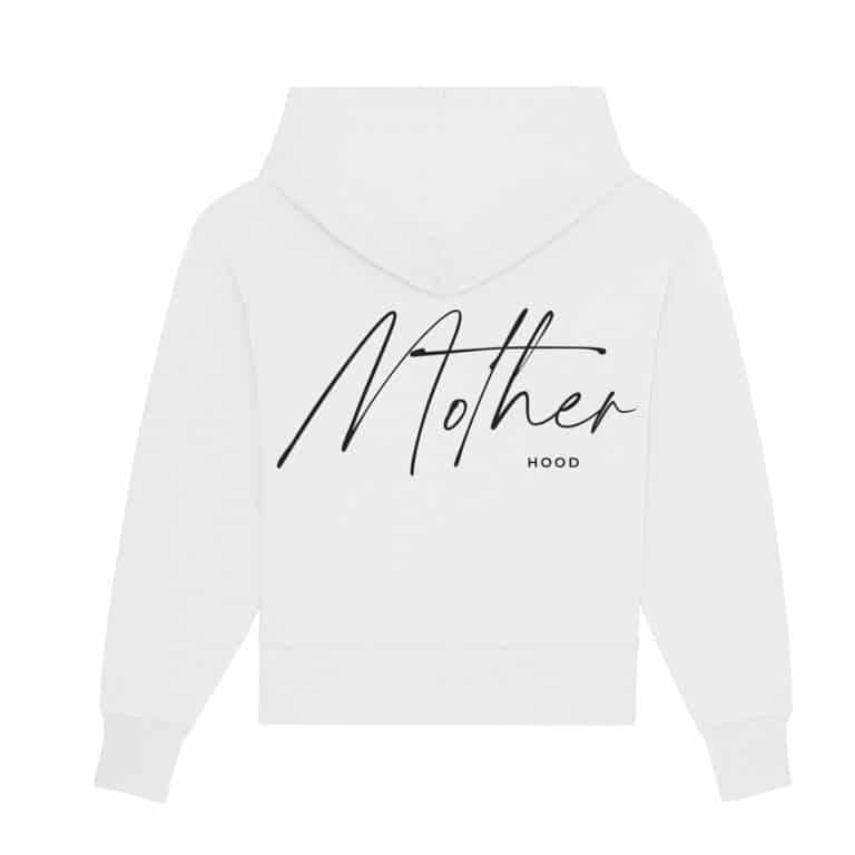 Famvibes Motherhood Damen Kapuzensweatshirt - weiß