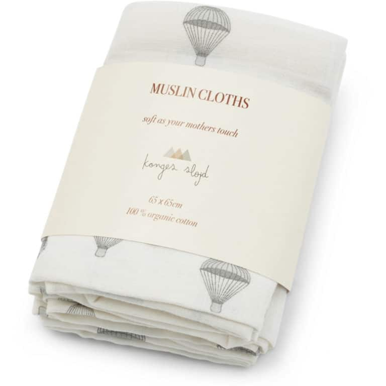 Konges Sløjd Musselin-Tücher Parachute Creme (3er Pack) 1