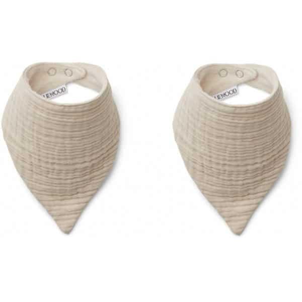 Liewood Lätzchen Andrea (2er-Set) sand