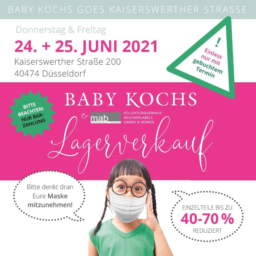 Baby Kochs Lagerverkauf 24. + 25. Juni 2021