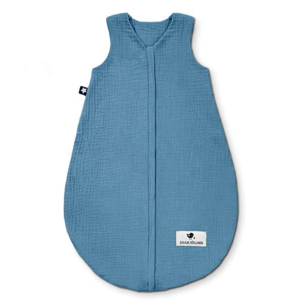 Julius Zöllner Sommerschlafsack aus Baumwollmusselin blau