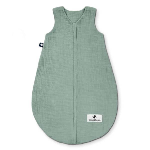 Julius Zöllner Sommerschlafsack aus Baumwollmusselin grün