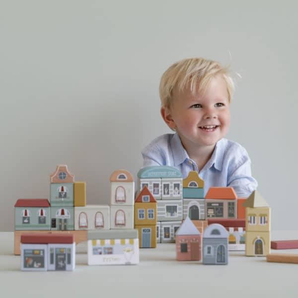 Little Dutch Bauklötze Stadtgebäude 2