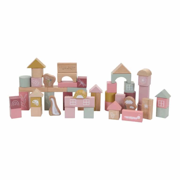 Little Dutch Holz-Bausteine pink