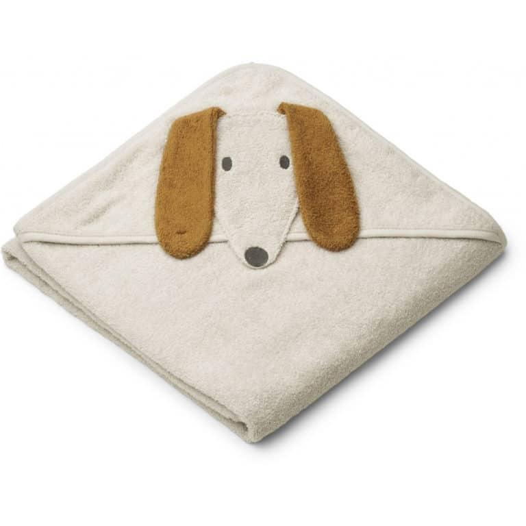 Liewood Kapuzen-Badetuch, Dog sandy 1